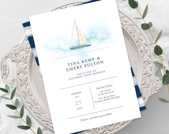 Wedding Invitations - Marina Bay (Style 13795)