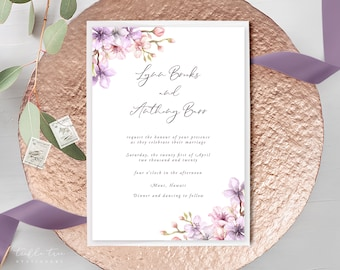 Wedding Invitations - Lilac Blossom (Style 13750)