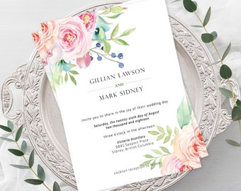 Wedding  Invitations - Boho Pink (Style 13765)