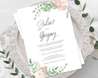 Wedding  Invitations - English Garden (Style 13737)