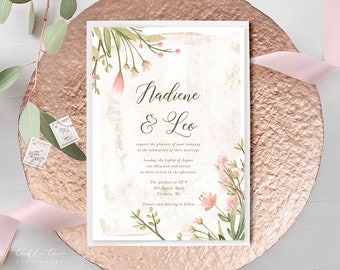 Wedding Invitations - Love is in Bloom (Style 13978)