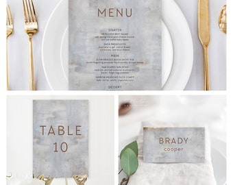 Reception Stationery Package (DEPOSIT) - Modern/Copper & Grey (Style 13834)