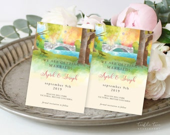 Save the Date Luggage Tags - Wedding in the Park (Style 13843)