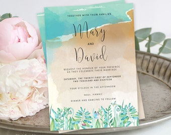 Printable Wedding Stationery - Rain Forest Inlet (Style 13596)