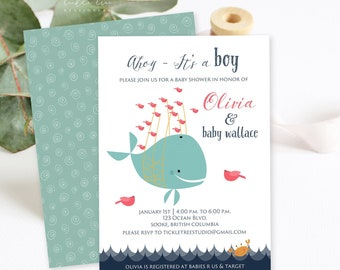 Baby Shower Invitations/Packages - Nautical Baby (Style 13154)