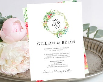 Printable Wedding Stationery - Country Charm (Style 13798)