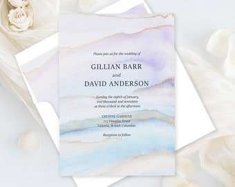 Printable Wedding Stationery - Desert Sands (Style 13728)