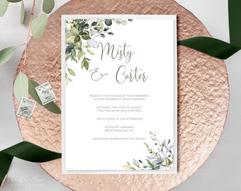 Wedding  Invitations - Botanical Bay (Style 13915)