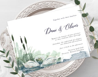 Wedding Invitations - Swan Lake 2 (Style 13864)