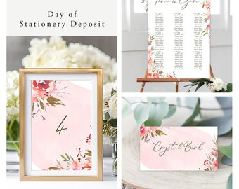 Wedding Day In the Park (Style 13976) - Day of Stationery Deposit Add On
