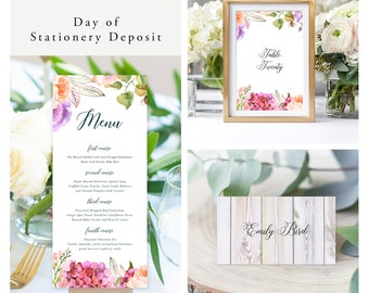 English Meadow (Style 13058) - Day of Stationery Deposit Add On