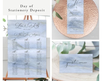 Blue Sands (Style 13761) - Day of Stationery Deposit Add On