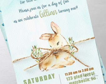 Birthday Party Invitation Packages - Our Little Deer is Growing Up (Style 13780)