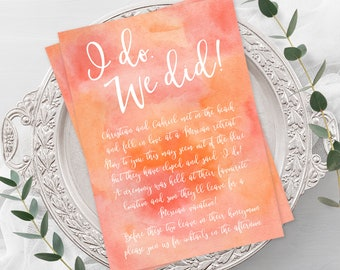 Wedding Invitations - Tropical Sun (Style 13663)