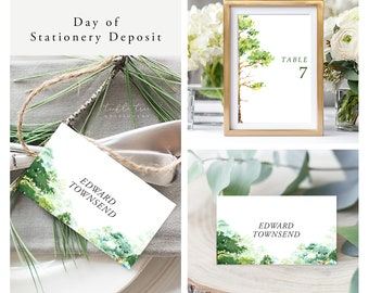 Forest Dreams (Style 13777) - Day of Stationery Deposit Add On
