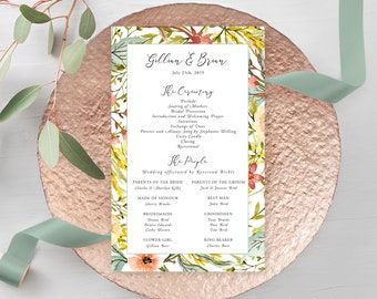 Wedding Programs - Country Charm (Style 13798)