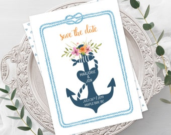 Wedding Invitations - Nautical Marina (Style 13508)