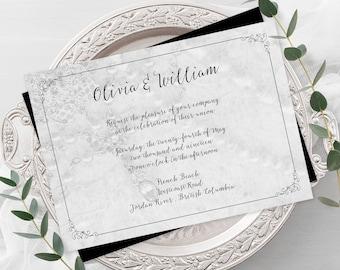 Wedding Invitations - Crystal & Pearls (Style 13654)
