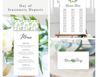 Urban Garden (Style 13657) - Day of Stationery Deposit Add On