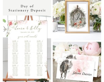 Mystic Garden (Style 13830) - Day of Stationery Deposit Add On