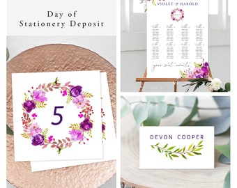 Purple Passion (Style 13785) - Day of Stationery Deposit Add On
