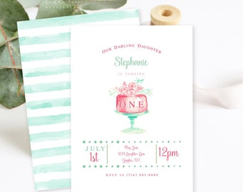 Birthday Party Invitations/Packages - Let Them Eat Cake! (Style 13754)