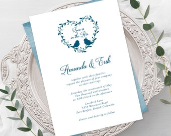Wedding Invitations - Love is In the Air (Style 13519)