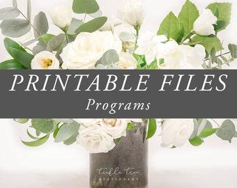 Printable File - Programs
