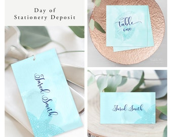 Coastal Waters (Style 13200) - Day of Stationery Deposit Add On