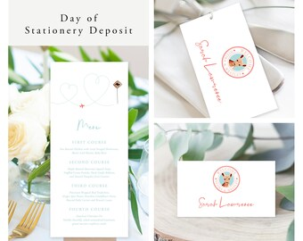 Come Fly with Us Destination Wedding (Style 13885) - Day of Stationery Deposit Add On