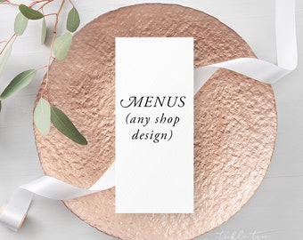 Menus - Any Shop Design