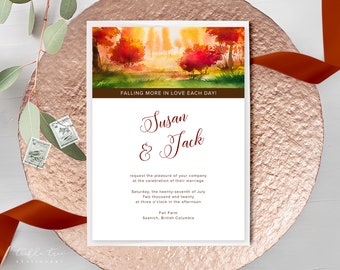 Wedding Invitations - Fallen for You (Style 13562)