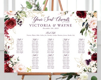Seating Chart/Design & Printing or Printable File - Artful Garden (Style 13858)