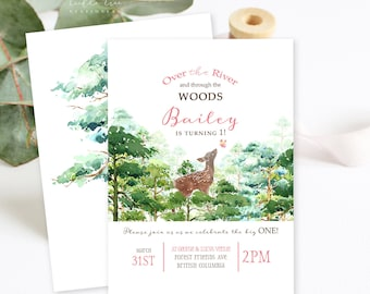 Birthday Party Invitations/Packages - Over the River and Through the Woods (Style 13673)