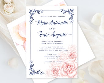 Printable Wedding Stationery - Marie Antoinette, Let Them Eat Cake (Style 13770)
