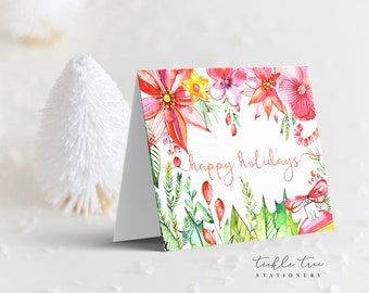 Holiday Note Card - Happy Garden (HC07)