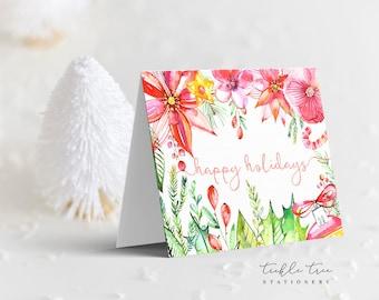 Holiday Note Card - Happy Garden (HC07)