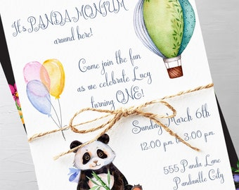 Birthday Party Invitations - It's Panda-Monium Around Here! (Style 13692)