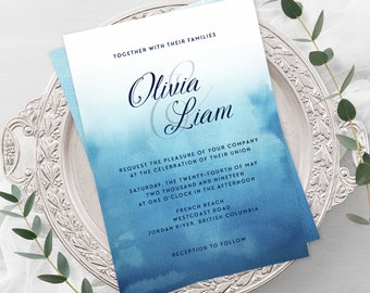 Wedding Invitations - Ocean Falls (Style 13651)