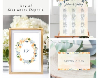 Thistle and Bloom (Style 13796) - Day of Stationery Deposit Add On