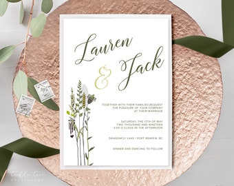 Wedding Invitations - Field of Wild Grasses (Style 13210)