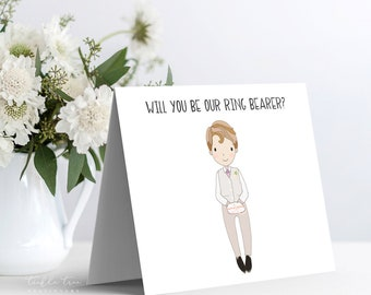 Instant Download - Note Card, Will You Be Our Ring Bearer (Style 13955-5)