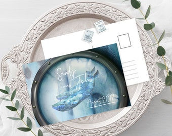 Save the Date Postcards - Whale Portal (Style 13617)