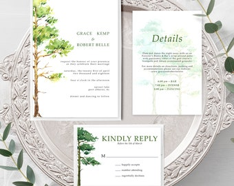 Forest Dreams (Style 13777) - Wedding Invitation + RSVP + Insert
