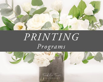 Printing Services - Wedding Programs