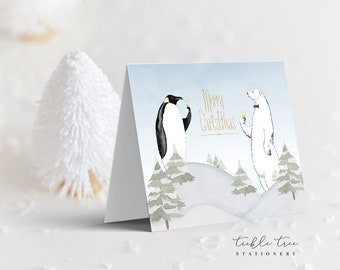 Holiday Note Card Set - Cheers From Us (HC12)