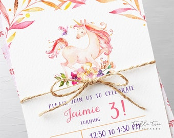 Birthday Party Invitation Packages - Unicorn Dreams 2 (Style 13753)