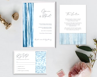 Printable Wedding Invitations - Shibori (Style 13902)