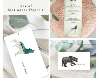 Rustic Woods (Style 13768) - Day of Stationery Deposit Add On