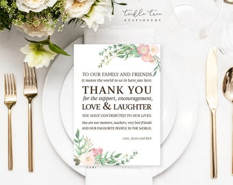 Reception Flat Thank You Cards - Country Garden (Style 13737)